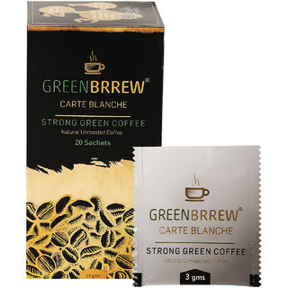 Greenbrrew Instant Green Coffee Beans Extract (Carte Blanche) Weight Loss - 20'sachets