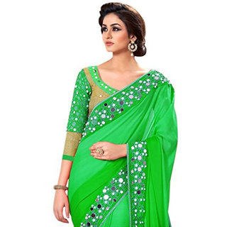 Georgette Mirror Work at Surat Excellent Quality Saree With Blouse 011STnew-crazzy10(wh)