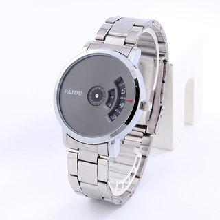 662550bbd9c0 New Paidu Silver Metal Belt Best Latest Designing Stylist Analog Watch For  Men