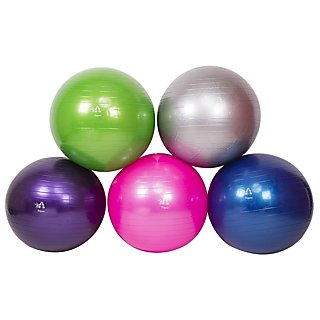 FITGURU EXERCISE GYM BALL 75 CM (GREY) WITH FOOT PUMP.