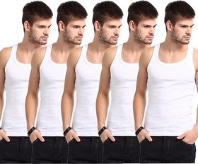 PACK OF (4) WHITE TO WHITE VEST FOR MEN GENTLE LOOK AND ULTRA FIT AND LOOK
