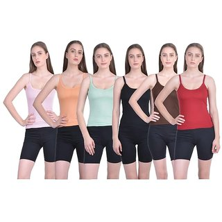 Girls camisole pack of 6 pc asstd color