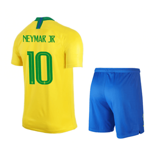 huge discount 0f1b8 3df41 BRAZIL HOME KIT NEYMAR PRINTED JERSEY WITH SHORTS 2018