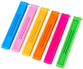 Kitchen Food Storage Plastic Snack Hand held Pouch Clip Sealer - Set of 6