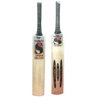 Mumbai Tattoo Silvo 999 Silver English Willow Cricket Bat (Size 5)
