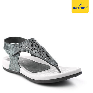 Welcome LC-16 Gun Metal Casual Women Sandal