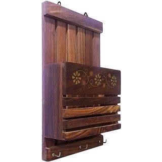 Buy Triple S Handicrafts Wooden Key Holder With 3 Hooks Online Get