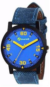 Assured Blue Strap Denim Analog Watch For Men  Boy A-2