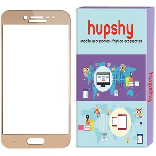 Hupshy Samsung Galaxy J7 Max Tempered Glass Screen Protector Edge to Edge Fit 9H Hardness Bubble Free Anti-Scratch Crystal Clarity 2.5D Curved Screen Guard for Samsung Galaxy J7 Max Gold