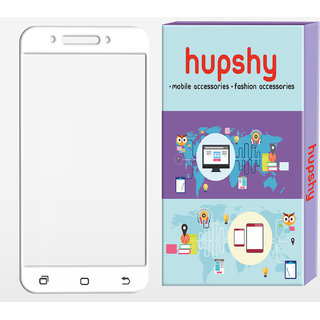 Hupshy Redmi 4A Tempered Glass Screen Protector Edge to Edge Fit 9H Hardness Bubble Free Anti-Scratch Crystal Clarity 2.5D Curved Screen Guard for Redmi 4A White