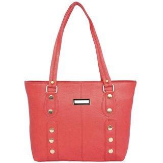 Aliado Faux Leather Red Coloured Zipper Closure Handbag P254