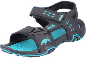 Vandeu Men's Black Green Outdoor Sports and Athletic Sandals
