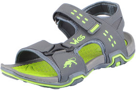 Vandeu Men's Grey Green Outdoor Sports and Athletic Sandals