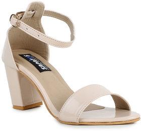 Sapatos Beige Block Heels For Women