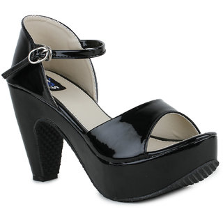 Sapatos Black Block Heels For Women
