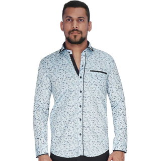 Disperse Print Sky with Flower Print Shirt By Corporate Club