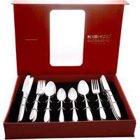 Kishco Stainless Steel Classic 24 Pcs Cutlery Set In Gift Box