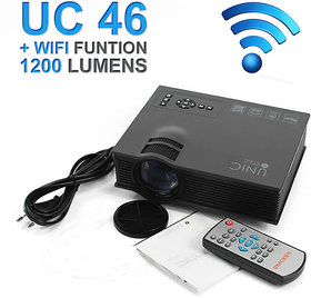 UNIC UC46 LED Wifi 1200 Lumens DLNA/ Airplay/ Airmirror/Miracast Projector by Antara Sales