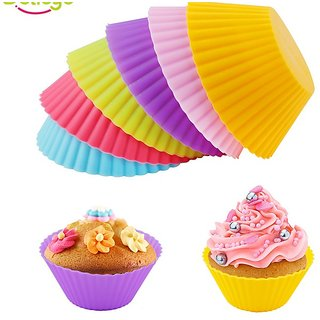 SNR Set Of 6 Silicone Cake Cup Molds