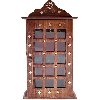 Triple S Handicrafts Wooden Key Holder with 6 Hooks