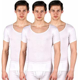 Crystal Men's RIB Vest RNS(Pack of 3)