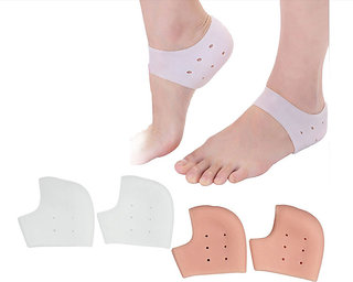 Silicone gel Heel socks moisturizing for cracked foot skin protector 40gms1 pair