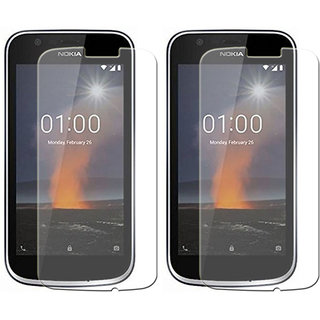 Mobik Tempered Glass for Nokia 1   Pack of 2