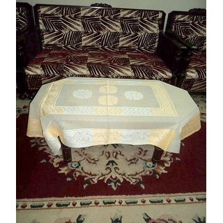AH  Peach  Color  Net  Center Table Cover ( Size  60x40 inch )