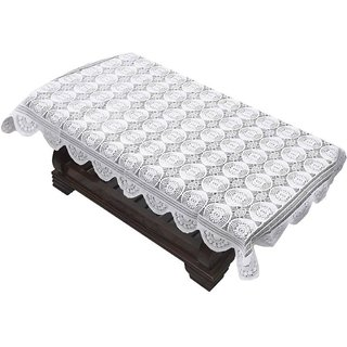AH  White Net  Center Table Cover ( Size  60x40 inch )