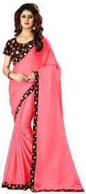 Gurukrupa Digital Pink Silk Wedding Saree With Blouse