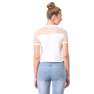 1a33b81f49e6b Buy Raabta White NEVER COAST short top with net yoge Online - Get 73 ...
