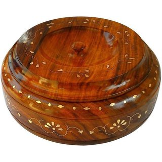 Triple S Handicrafts Wooden Casserole (300 ml)