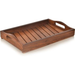 Triple S Handicrafts Wooden  Bowl Serving Tray