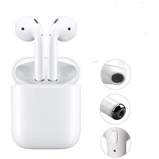 Rodex i7 TWS Wireless Music Earphone Bluetooth Headset (White)