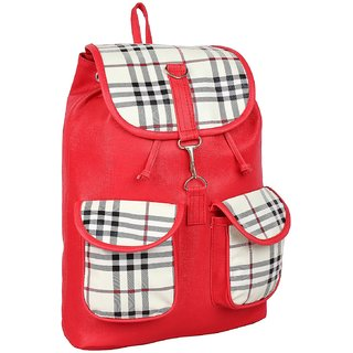 d3947b7acf58 Buy CHHAVI INDIA RED FRONT POCKET PU BACKPACK (CIM0190S) Online ...
