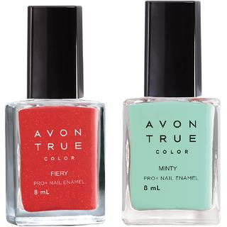 Avon True Color Nail Wear Pro+ (Electric Fiery - Minty )