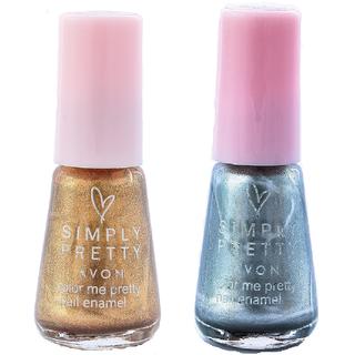SP Nail Enamel Restage (Glitter Gold - Sizzling Silver )