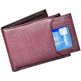 Fastrace Insta Brown Card Holder Men's Wallet (Synthetic leather/Rexine)