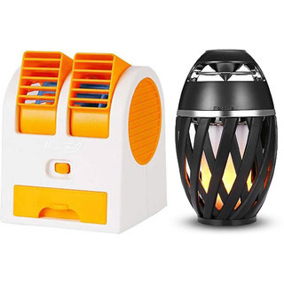 YDY_1488D_Air conditioner  Mini cooler  and Flame bluetooth speaker  compatible for XOLO Q1020( Air conditioner Mini cooler   Mini cooler   Mini Air conditioner    Mini AC    Portable Fan   bluetooth Speaker)
