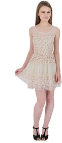 ELYWOMEN Casual Sleeveless Beige Baby Doll Dress for women