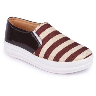 Aadvit Womens Brown Loafers