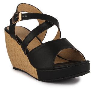 6bc371b7bd5 Buy Aadvit Women s Black Wedges Online - Get 33% Off