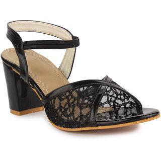 2b89c4218d0 Buy Aadvit Women s Black Block Heels Online - Get 33% Off