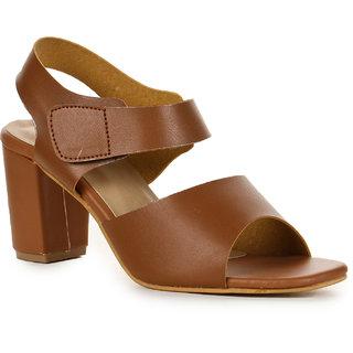 12845cc6e9e Buy Aadvit Women s Tan Block Heels Online - Get 33% Off
