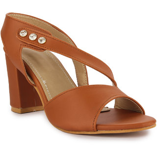 03d88632683 Aadvit Women's Tan Block Heels