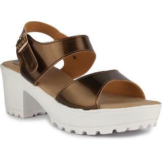 2a0b6fae945 Buy Aadvit Women s Brown Block Heels Online - Get 33% Off