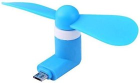 KSJ OTG Mini USB Cooling Portable Fan Mobile Cooler For V8 Android OTG Phone (Assorted Colors)