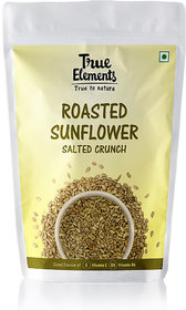 True Elements Roasted Sunflower Seeds, Salted Crunch, 125gm