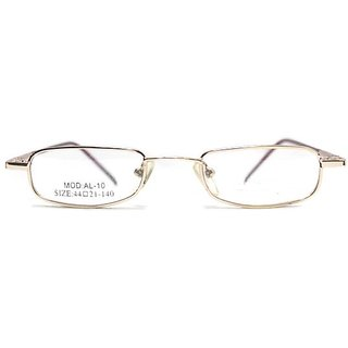 affable Rimmed Rectangle Unisex Spectacle Frame  A332 Golden  44 mm