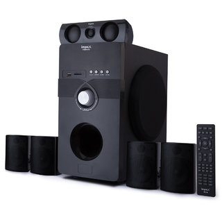 Impex VIBRATO Bluetooth Home Audio Speaker  Black, 5.1 Channel  Home Theaters System